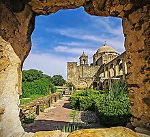 Set In Stone - Mission San Jose - San Antonio Texas USA by TonyCrehan