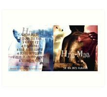 HIVE-MIND -THE NEAR DEATH ALBUM COVER I Art Print