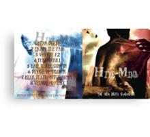 HIVE-MIND -THE NEAR DEATH ALBUM COVER I Canvas Print