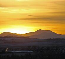 Sunset On the Rockies by Al Bourassa