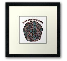 Bringing brainy back Framed Print