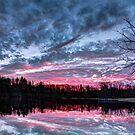 Dramatic Sunset Pond by Kenneth Keifer