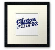 Clinton Gore 1992 Framed Print
