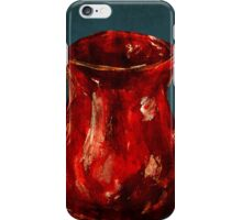 Red Milk Jug Blue Edit acrylics on paper iPhone Case/Skin
