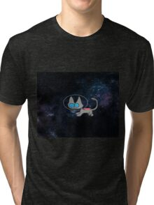 Blue Eyed Cat In Space Tri-blend T-Shirt