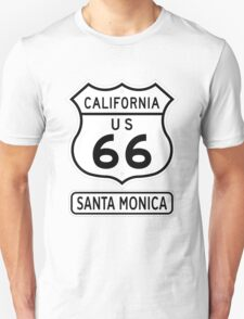 Historic Route 66 - The Mother Road - Santa Monica Unisex T-Shirt
