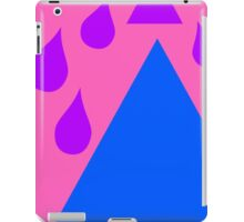 purple rain blue mountain express or shapes iPad Case/Skin