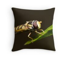 Hoverfly Eyes Throw Pillow