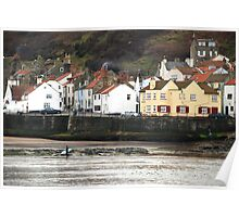 The Captain Cook inn, at Staithes, North Yorkshire Poster