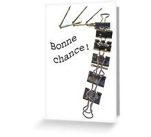 Carte Bonne chance Greeting Card