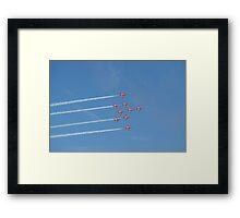 Red Arrows 9 Framed Print