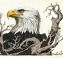 Eagle's View - realistic painting  by LindaAppleArt