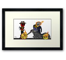 Deadpool giving Tickets Framed Print