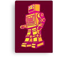 Retro Robot Canvas Print