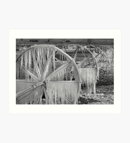 Frozen Wheels B&W Art Print