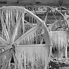 Frozen Wheels B&amp;W by Dan Sweeney