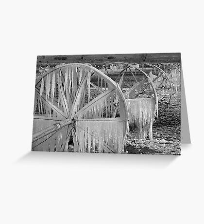 Frozen Wheels B&W Greeting Card