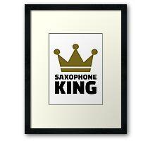 Saxophone king crown Framed Print