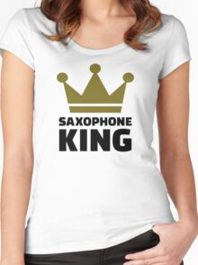 Saxophone king crown Women's Fitted Scoop T-Shirt