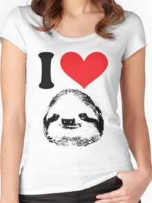 I HEART SLOTH Women's Fitted Scoop T-Shirt