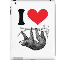 I HEART SLOTH iPad Case/Skin
