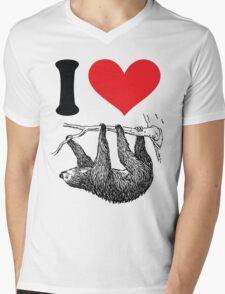 I HEART SLOTH Mens V-Neck T-Shirt