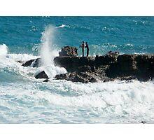 The Rock Fishermen Photographic Print