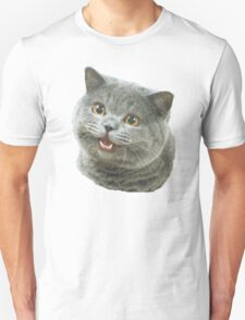 Happy Cat Plain Meme T-Shirt
