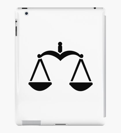 Scale symbol iPad Case/Skin