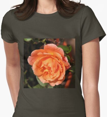 Orange Wildfire - Miniature Rose Womens Fitted T-Shirt