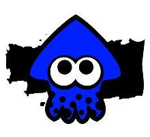 Splatoon Squid (Dark Blue) Photographic Print
