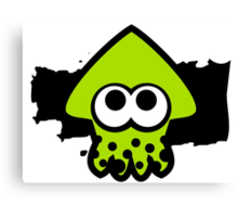 Splatoon Squid (Green) Canvas Print