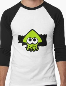 Splatoon Squid (Green) Men's Baseball ¾ T-Shirt