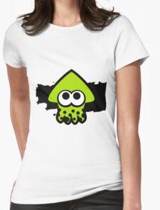 Splatoon Squid (Green) Womens Fitted T-Shirt