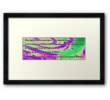 Music on the mind! Framed Print