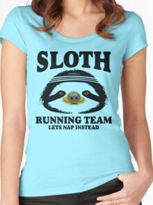 SLOTH RUNNING TEAM, LETS NAP INSTEAD Women's Fitted Scoop T-Shirt
