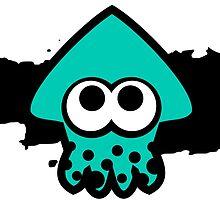 Splatoon Squid (Light Blue) by RocketClauncher