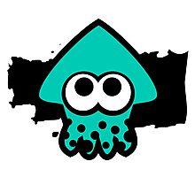 Splatoon Squid (Light Blue) Photographic Print