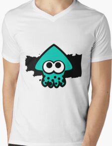 Splatoon Squid (Light Blue) Mens V-Neck T-Shirt