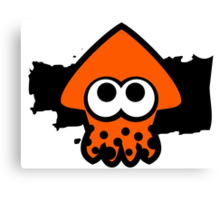 Splatoon Squid (Orange) Canvas Print