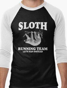 SLOTH RUNNING TEAM, LETS NAP INSTEAD Men's Baseball ¾ T-Shirt
