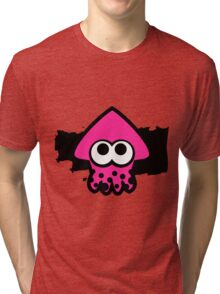Splatoon Squid (Pink) Tri-blend T-Shirt