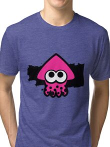 Splatoon Squid (Pink) Tri-blend T-Shirt