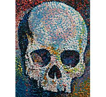 Pointillism Skull Photographic Print