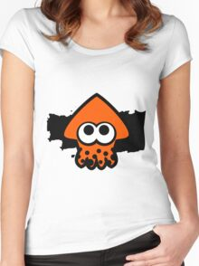 Splatoon Squid (Orange) Women's Fitted Scoop T-Shirt