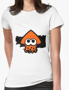 Splatoon Squid (Orange) Womens Fitted T-Shirt