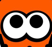 Splatoon Squid (Orange) Sticker