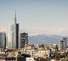Milano (Italy), skyline with new skyscrapers by MarcoSaracco