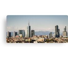 Milano (Italy), skyline with new skyscrapers Canvas Print