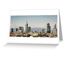 Milano (Italy), skyline with new skyscrapers Greeting Card